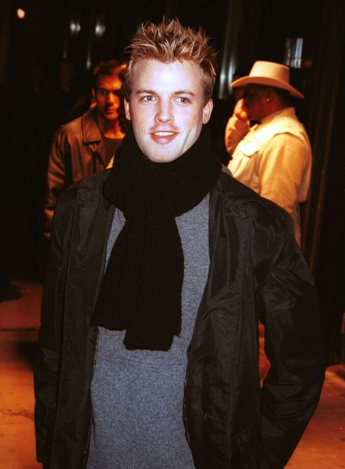 "MTV VJ Brian McFadden arrives at the Backstreet Boys'' ""Black and Blue"" record release party at Times Square November 21, 2000 in New York City."