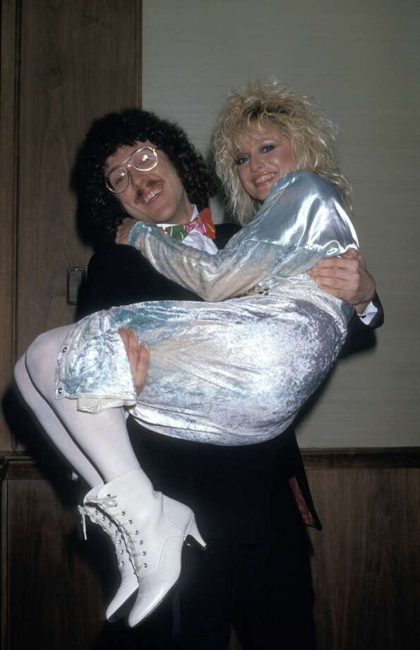 """Weird Al"" Yankovic and MTV VJ Nina Blackwood"