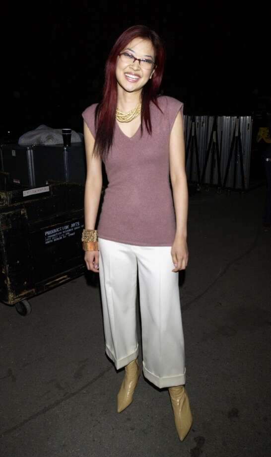 MTV VJ SuChin Pak during MTV's Rock and Comedy Concert - Backstage at Battery Park in New York City.