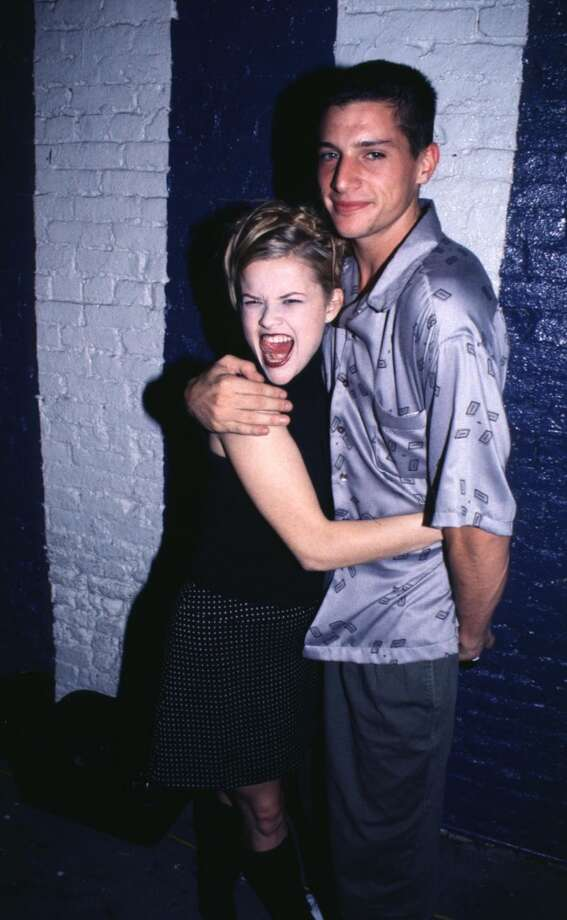 "Reese Witherspoon and Simon Rex, MTV VJ during ""Freeway"" Release Bash at The Bowery Bar in New York City."