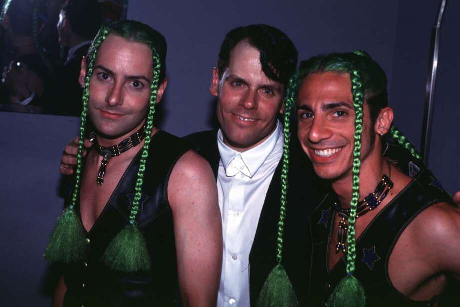 John Norris (MTV VJ) with It Twins during John Norris at Club USA - 1993 at Club USA in New York City.