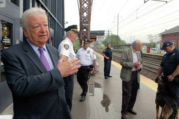 Norwalk mayor Richard Moccia visits the South Norwalk, Conn. train station on Monday May 20, 2013. Photo: Dru Nadler / Stamford Advocate Freelance