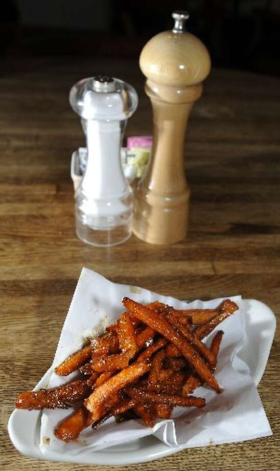Seasoned sweet potato fries.