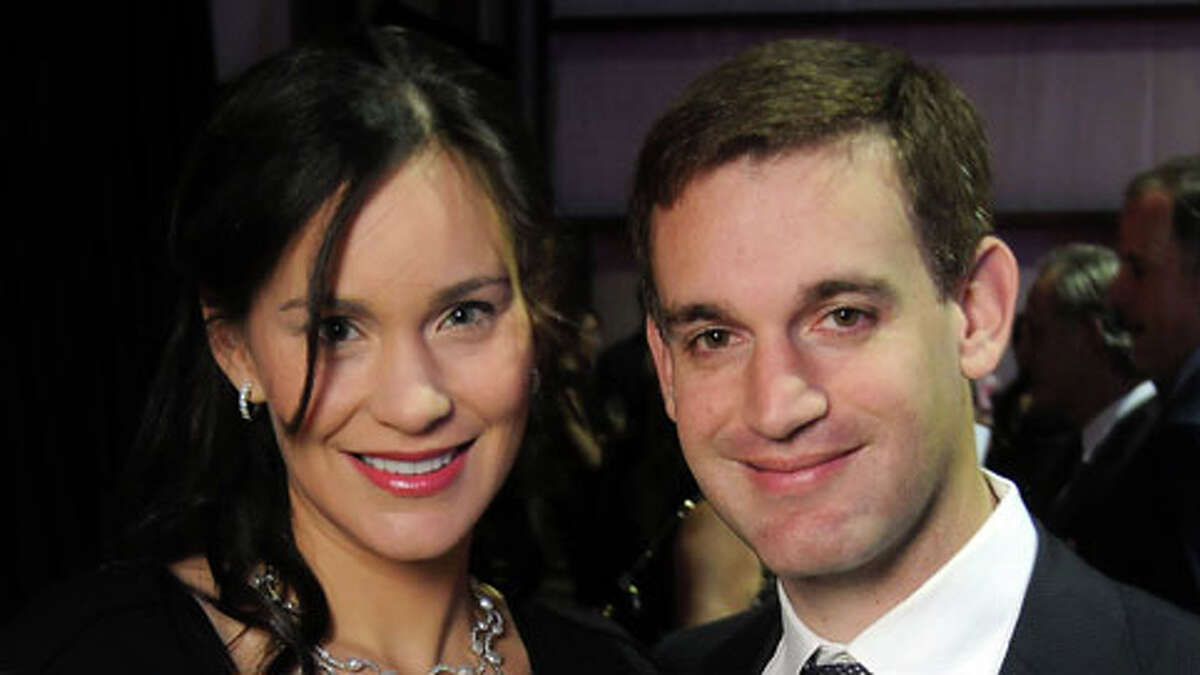 Laura and John Arnold at the Defying Gravity Gala benefitting Cristo Rey Jesuit School at the Enterprise Jet Center at Hobby Airport Saturday Jan. 29,2011.