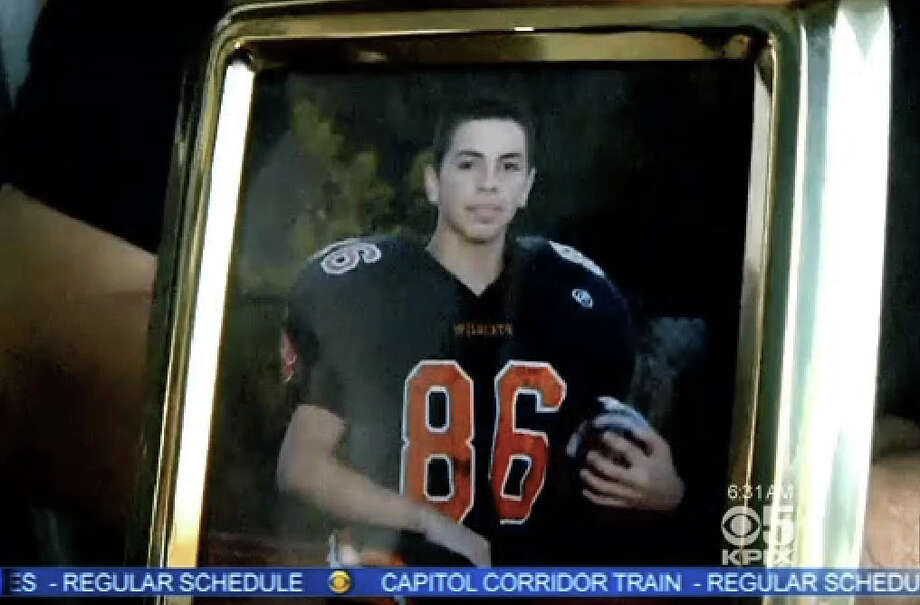 Jose Luis Quinones, 16, a student at Woodside High School, died in a shooting on Sunday night. Photo: CBS San Francisco