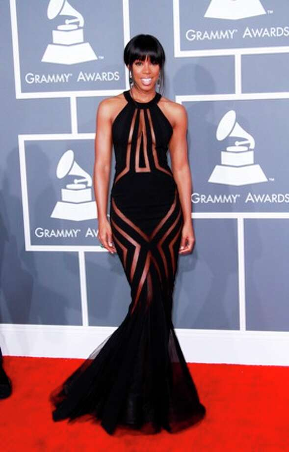 Kelly Rowland arrives for the 55th Annual Grammy Awards at Staples Center in Los Angeles, California, on Sunday, February 10, 2013. Photo: Kirk McKoy