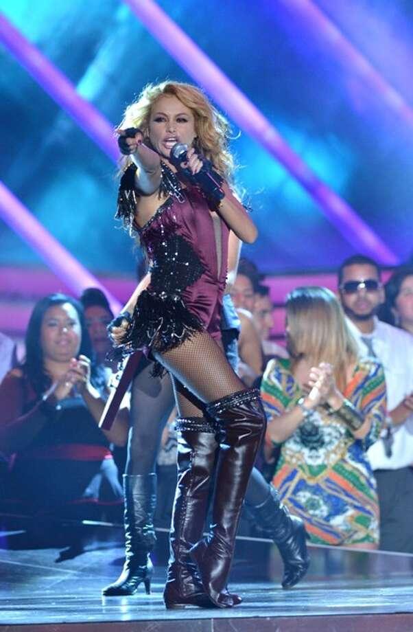 Paulina Rubio performs at Billboard Latin Music Awards 2013 at Bank United Center on April 25, 2013 in Miami, Florida. Photo: Rodrigo Varela / 2013 Getty Images