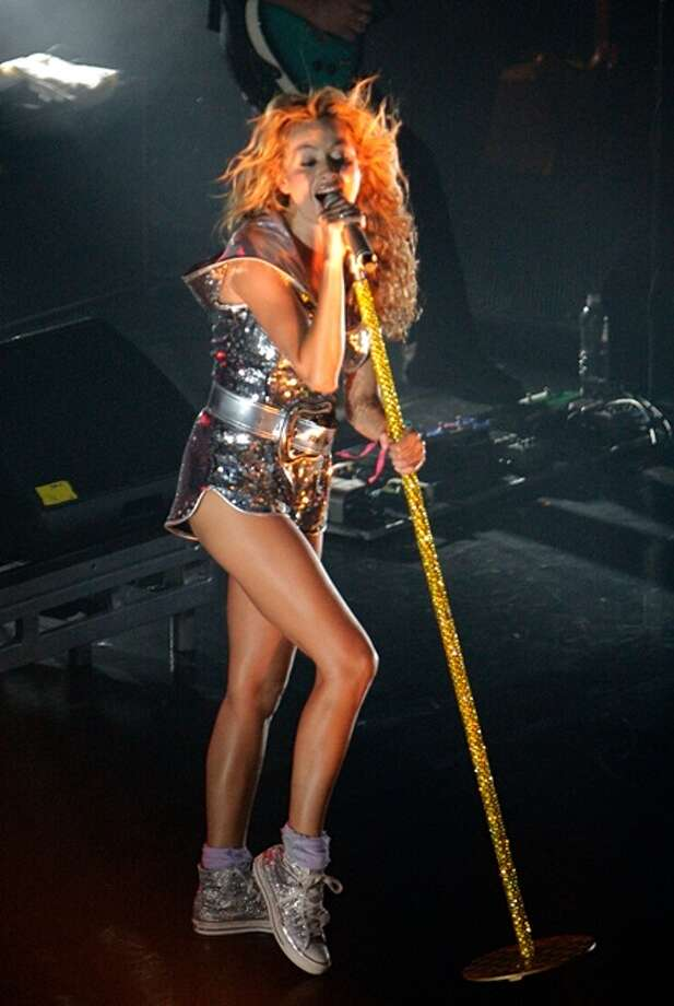 Latin music singer, Paulina Rubio, performed at Houston nightclub Escapade 2001 on May 17, 2007. Around 4,000 people showed for the pop-star's performance as she sang some of her top hits. Photo: Eric S. Swist