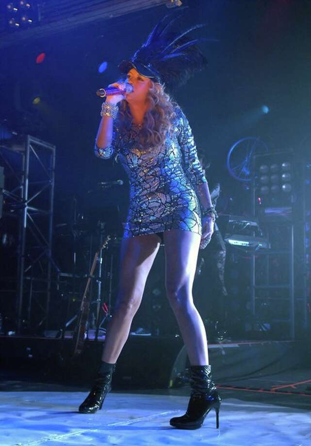 Paulina Rubio rocks at Warehouse Live Photo: Tre' Ridings