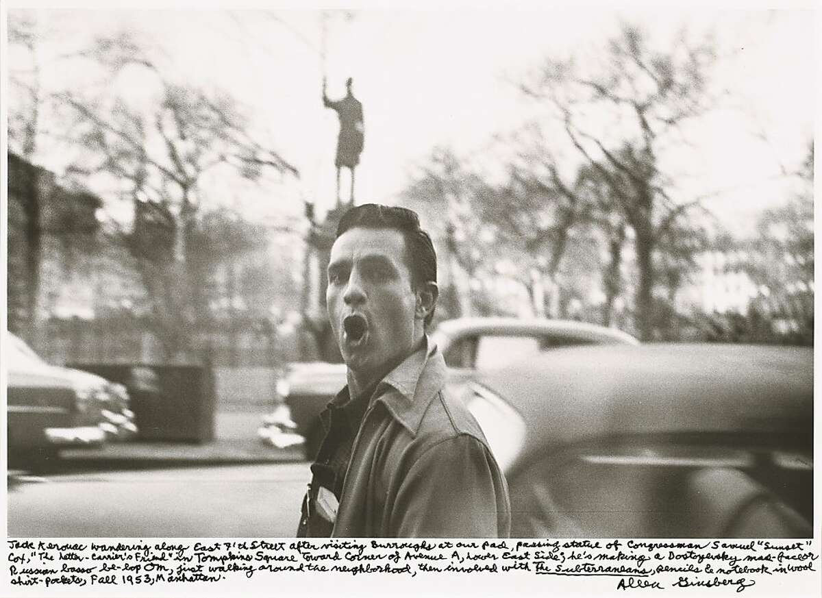 Allen Ginsberg shot Jack Kerouac wandering along East Seventh Street in New York in 1953. Photo by Allen Ginsberg