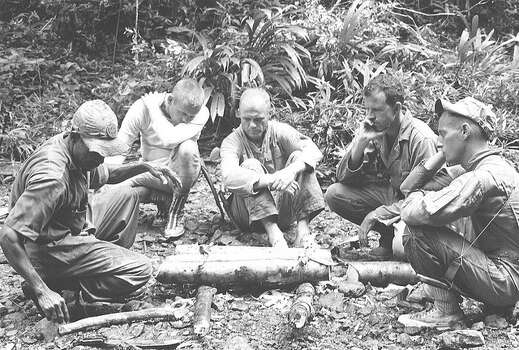 Astronauts participate in tropical survival training at Albrook Air Force Base