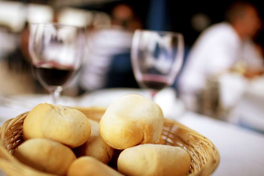 At a restaurant: Beware the breadbasket.