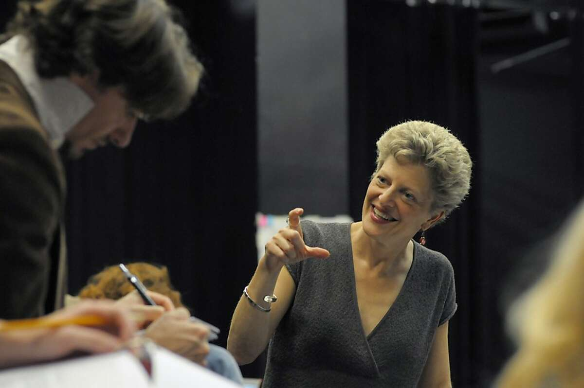 """ACT Artistic Director Carey Perloff celebrates 20 years with the company by directing a revival of Tom Stoppard's """"Arcadia,"""" a romantic drama she directed in 1995. """"Arcadia"""" runs through June 9 at ACT's Geary Theater. Photo by Kevin Berne"""