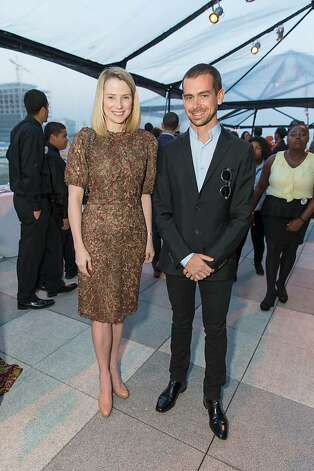 Marissa Mayer and Jack Dorsey at The BUILD Gala on May 17, 2013. Photo: Drew Altizer Photography