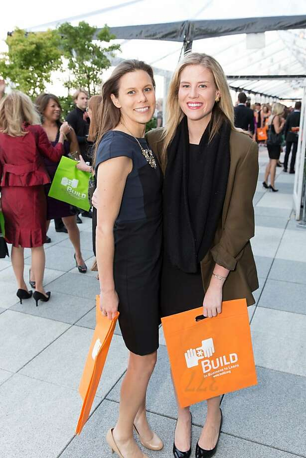 Lauren Myrick and Catherine Ferdon at The BUILD Gala on May 17, 2013. Photo: Drew Altizer Photography