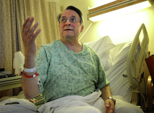 Paul Jordan, of New Haven, discusses how he was thrown in the air during Friday's train derailment and collision in Bridgeport, Conn. Jordan suffered a compression fracture in his spine. Photo: Brian A. Pounds / Connecticut Post