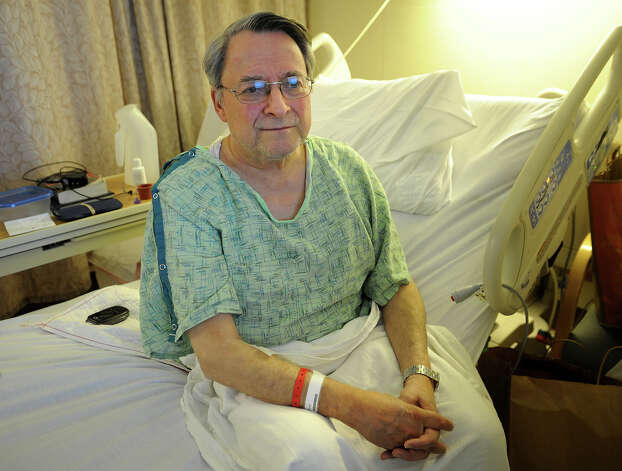 Paul Jordan, of New Haven, who suffered a compression fracture to his spine during Friday's train derailment and collision in Bridgeport, in his room at St. Vincent's Medical Center in Bridgeport, Conn., on Monday, May 20, 2013. Photo: Brian A. Pounds / Connecticut Post