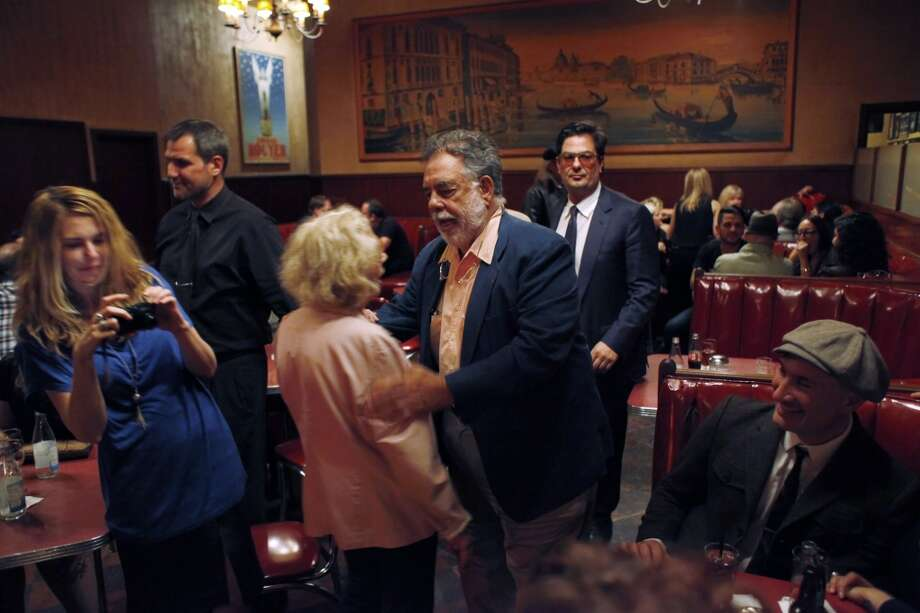 Francis Ford Coppola bids farewell to Jeannette Etheredge.
