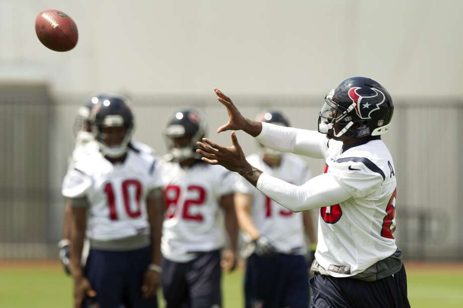 Texans wide receiver Andre Johnson catches a pass.
