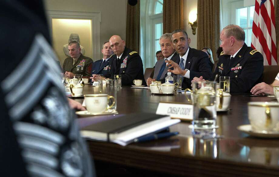 President Barack Obama met with Pentagon officials at the White House to discuss sexual assault in the military on the same day Sen. Kirsten Gillibrand, D-N.Y., introduced legislation that would give military prosecutors rather than commanders the power to decide which sexual assault cases to try. Photo: New York Times