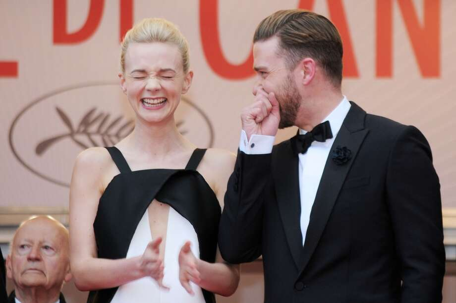 "Actors Carey Mulligan and actor Justin Timberlake attend the ""Inside Llewyn Davis"" Premiere during the 66th Annual Cannes Film Festival at Grand Theatre Lumiere on May 19, 2013 in Cannes, France."