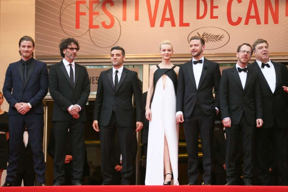 Director Joel Coen, actors Oscar Isaac, Carey Mulligan, Justin Timberlake, director Ethan Coen,John Goodman and musician and producer T Bone Burnett attend the Premiere of 'Inside Llewyn Davis' at The 66th Annual Cannes Film Festival on May 19, 2013 in Cannes, France.