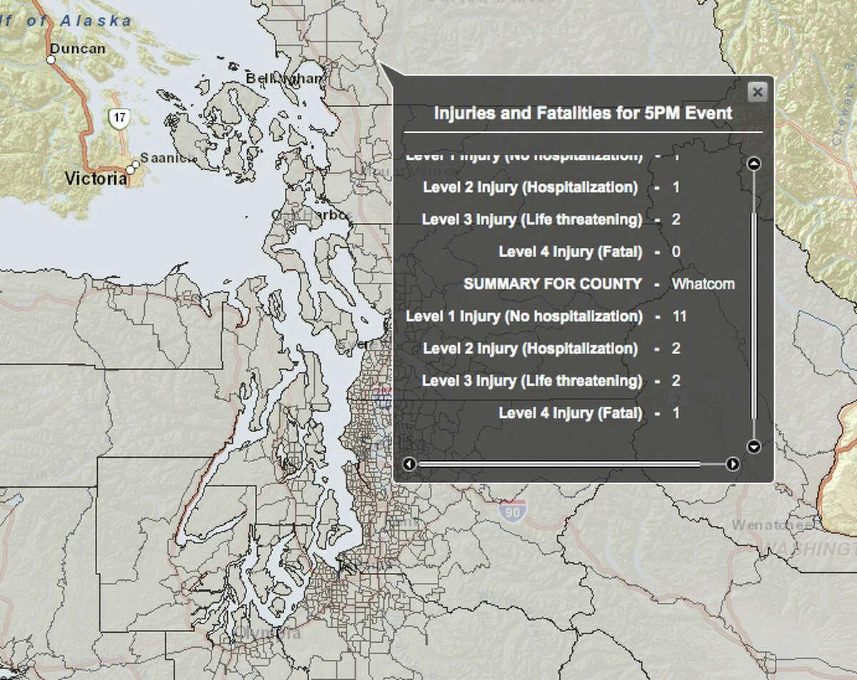Boulder Creek fault in 6.8 magnitude quake - hardest hit county.