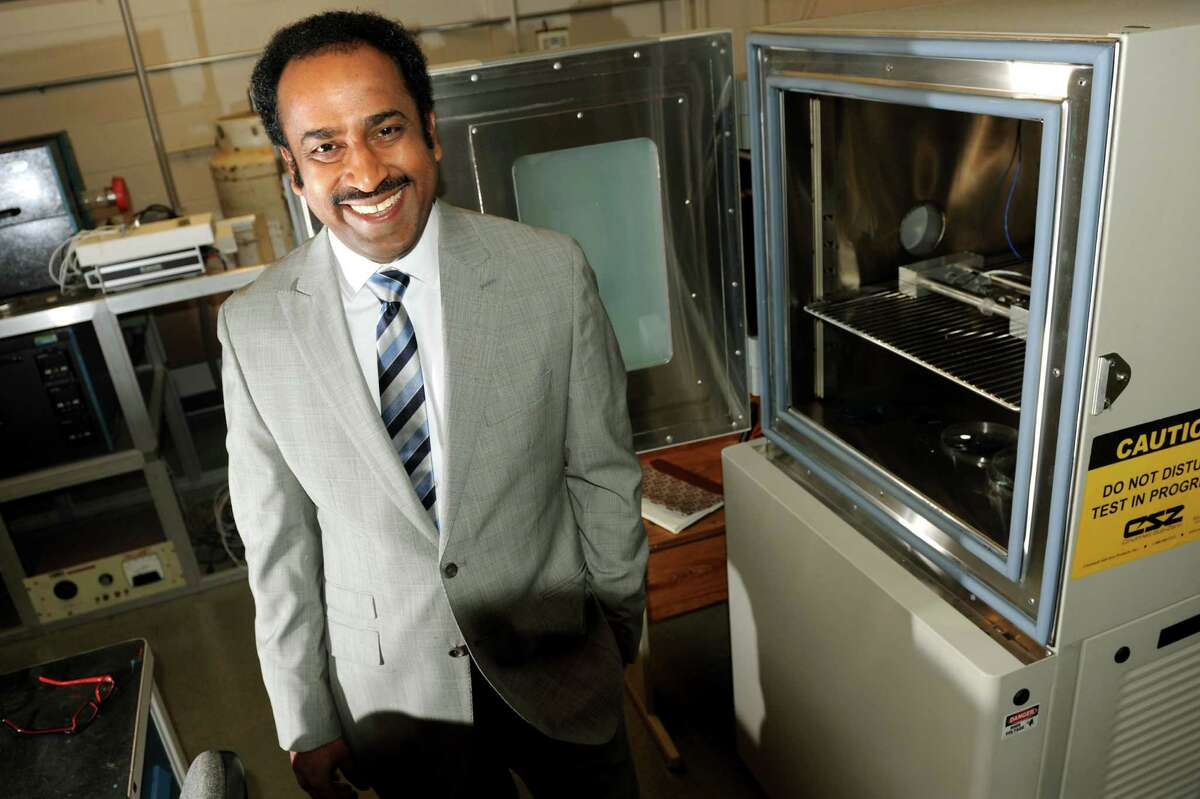 Ganpati Ramanath, professor of Materials Science and Engineering, in a laboratory on Tuesday, March 5, 2013, at Rensselaer Polytechnic Institute in Troy, N.Y. (Cindy Schultz / Times Union)