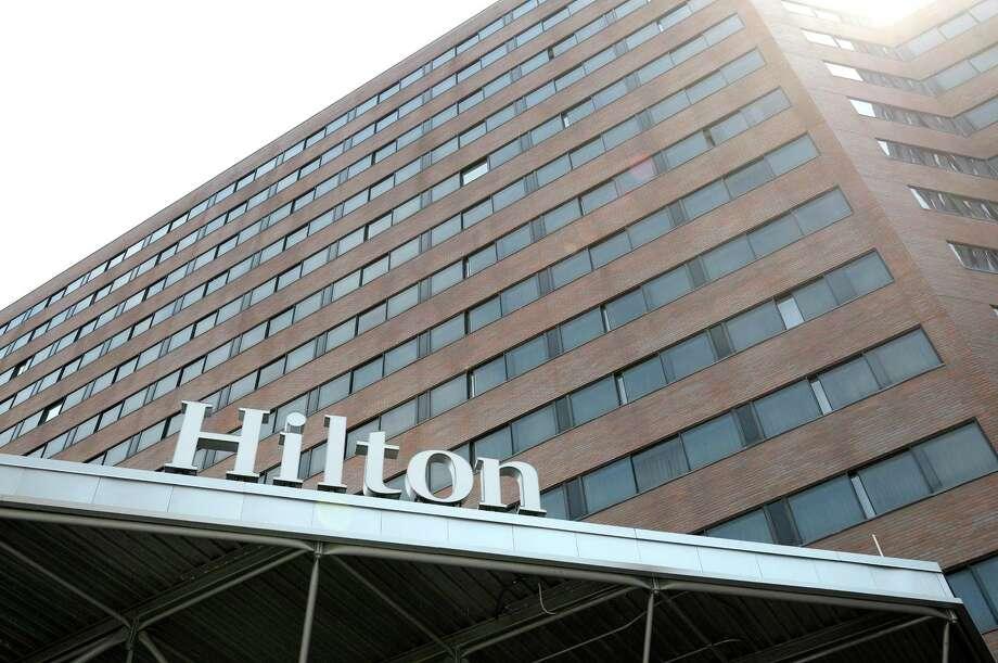 A view of the Hilton Albany hotel on Monday, May 20, 2013 in downtown Albany, NY.   (Paul Buckowski / Times Union) Photo: Paul Buckowski