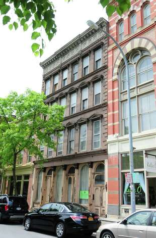 Exterior of 9 First Street Monday, May 20, 2013, in Troy, N.Y. Jeff Buell and Chris Colwell were approved to purchase and rehab the property from the Troy Local Development Corporation for $10,000. (Will Waldron/Times Union) Photo: Will Waldron