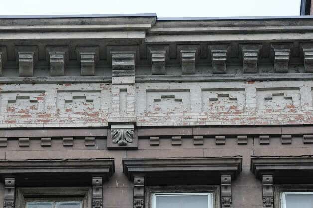 Architectural detail on 9 First Street Monday, May 20, 2013, in Troy, N.Y. Jeff Buell and Chris Colwell were approved to purchase and rehab the property from the Troy Local Development Corporation for $10,000. (Will Waldron/Times Union) Photo: Will Waldron