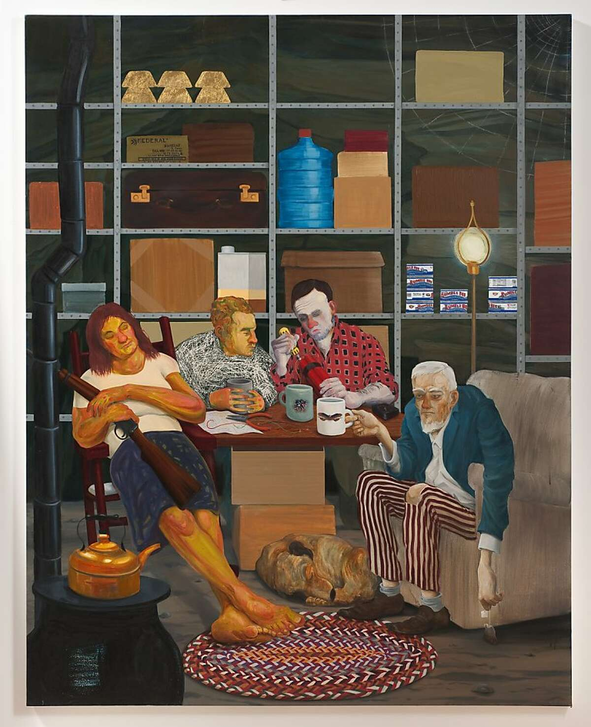 Nicole Eisenman: Tea Party Nicole Eisenman: Tea Party, 2011; oil on canvas, 82 65 in.; Hort Family Collection. Photo: Robert Wedemeyer, courtesy of Susanne Vielmetter Los Angeles Projects.