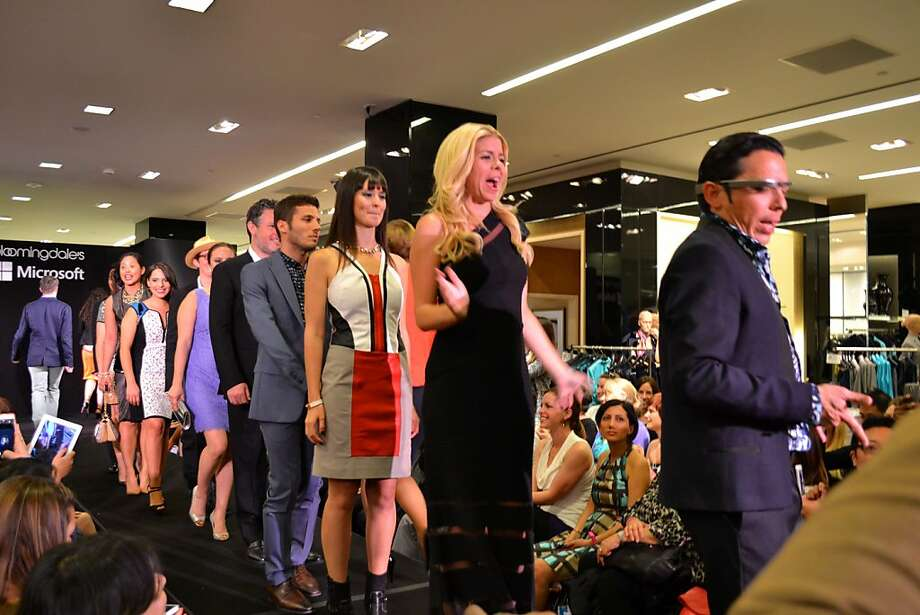 Tech models - 26 of them in all - show Bloomingdale's gear for Geek 2 Chic, a runway show and cocktail party series that started in Washington, D.C. Photo: Geek2Chic