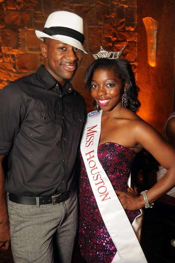 Leonard Price and Miss Houston 2013 Zoe Cadore