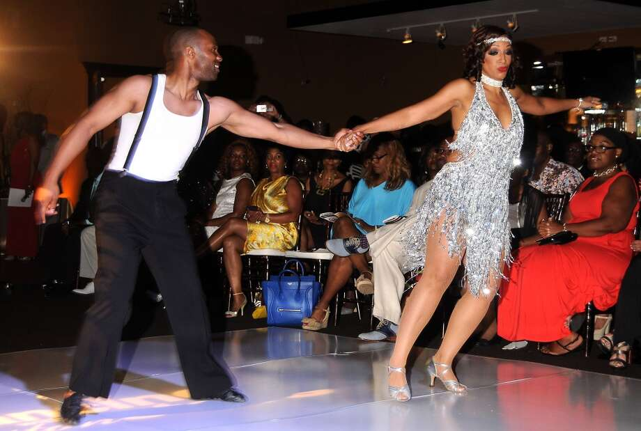 Jade Gold dances with Byron Lundy
