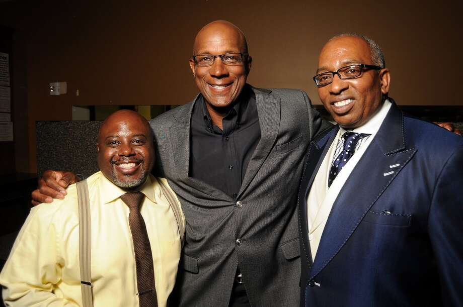Keith Davis, celebrity judge Clyde Drexler and Kenny Lloyd