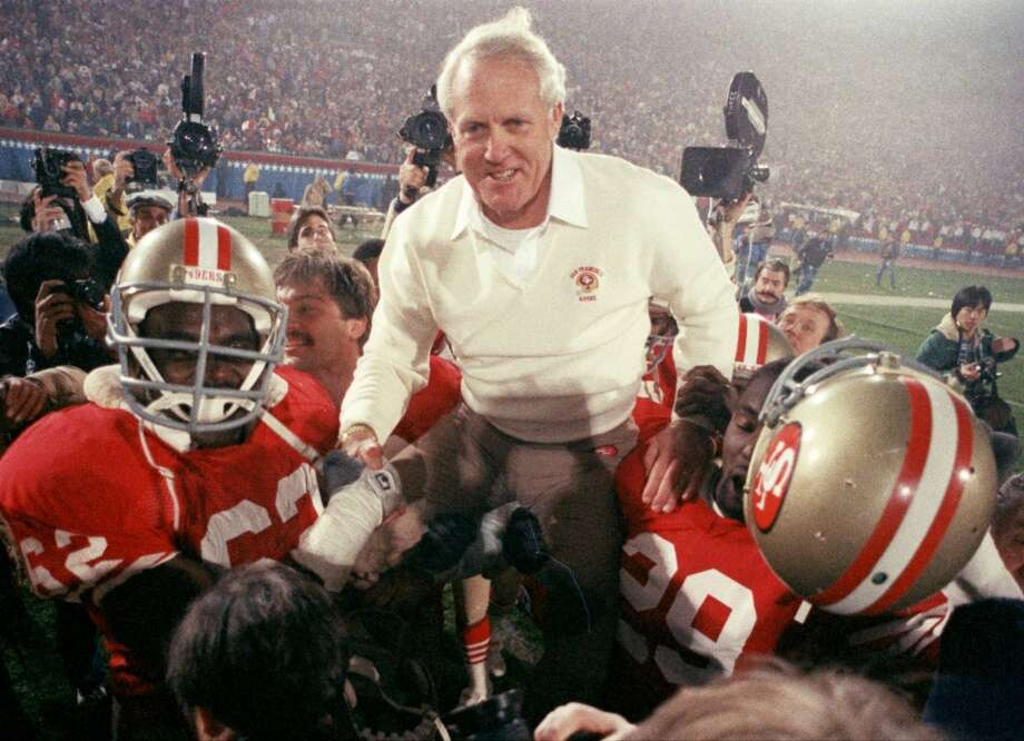 Legendary 49ers coach Bill Walsh, San Jose StateAfter playing football at SJSU, Walsh started his coaching career there as a grad assistant and later coached at Cal and Stanford. Photo: File, AP