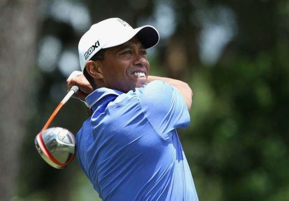 Golfer Tiger Woods, Stanford. Photo: Richard Heathcote, Getty Images