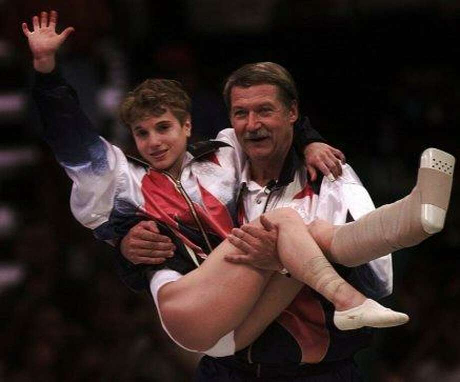 Olympic gymnast Kerri Strug, Stanford. Photo: John Gaps III, Associated Press