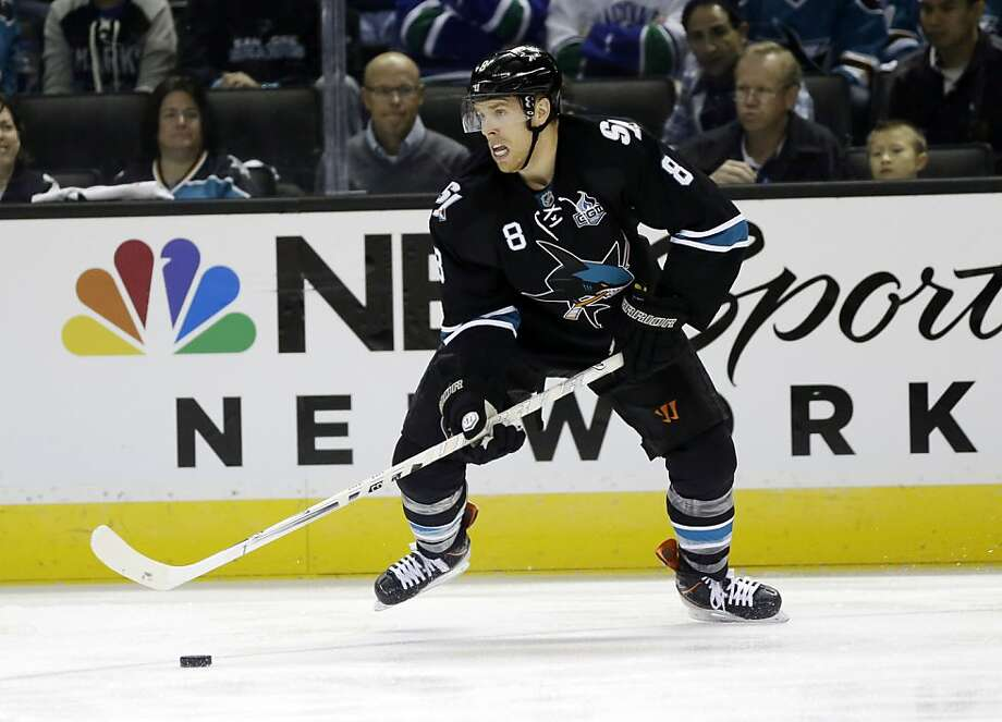 The Sharks moved Joe Pavelski alongside Patrick Marleau and Logan Couture after Raffi Torres was suspended following Game 1. Photo: Marcio Jose Sanchez, Associated Press