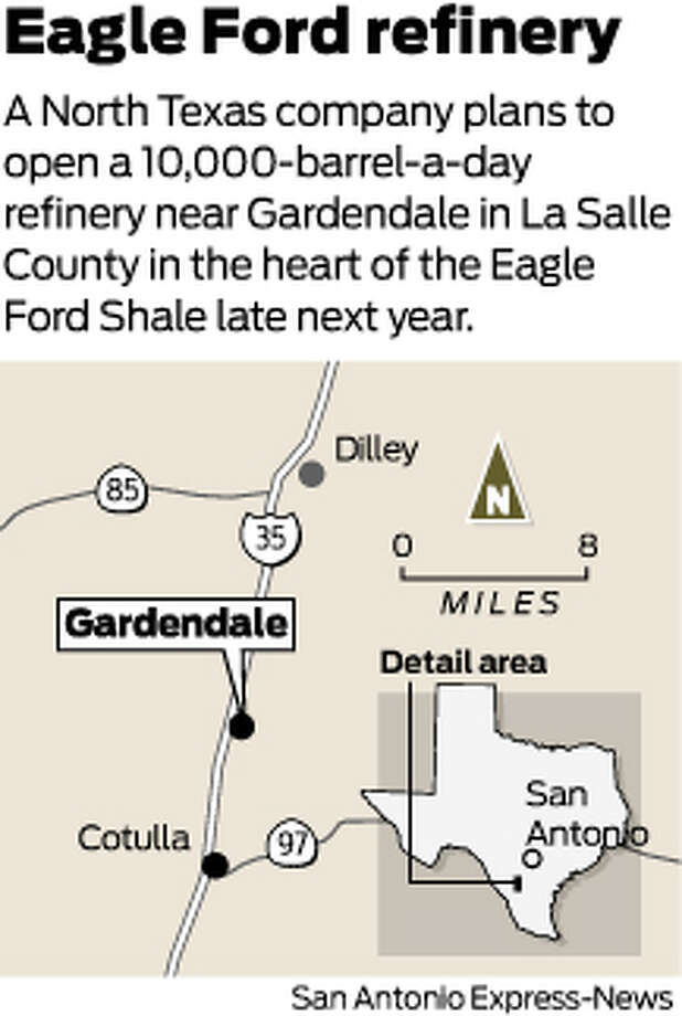 A North Texas company plans to open a 10,000-barrel-a-day refinery near Gardendale in La Salle County in the heart of the Eagle Ford Shale late next year. Photo: Mike Fisher