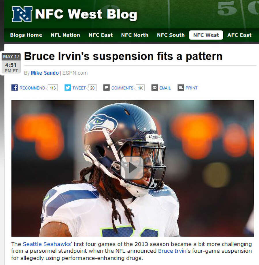ESPN: Mike Sando  NFC West blogger Mike Sando noted that a pattern is certainly emerging in the Seahawks clubhouse. But he wrote on ESPN.com that Seattle has time to make defensive adjustments, and has the options it needs in offseason pickups like DE Cliff Avril.