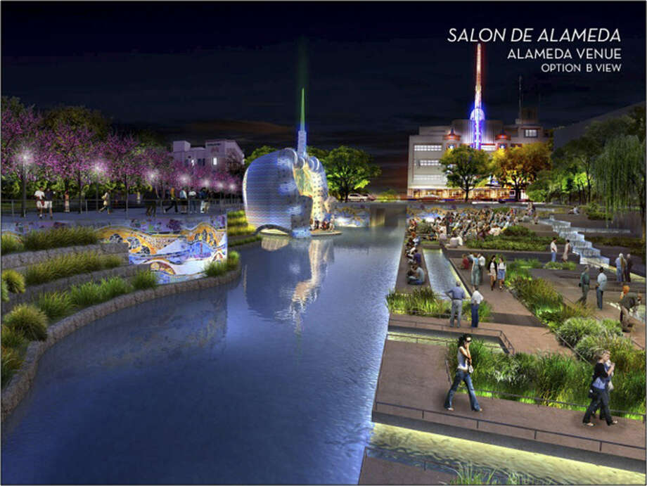 San Pedro Creek's restoration could start in 2016. By 2018, there could be walkways, landscaping and a performance venue. Photo: Courtesy Illustration