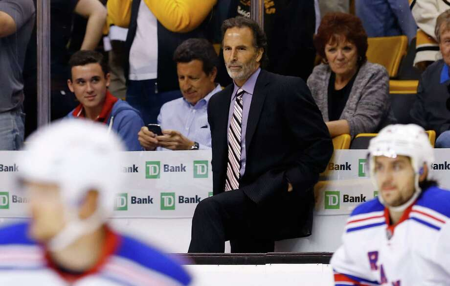 BOSTON, MA - MAY 19: Head coach John Tortorella of the New York Rangers watches his team warm up prior to the game against the Boston Bruins in Game Two of the Eastern Conference Semifinals during the 2013 NHL Stanley Cup Playoffs on May 19, 2013 at TD Garden in Boston, Massachusetts. (Photo by Jared Wickerham/Getty Images) Photo: Jared Wickerham