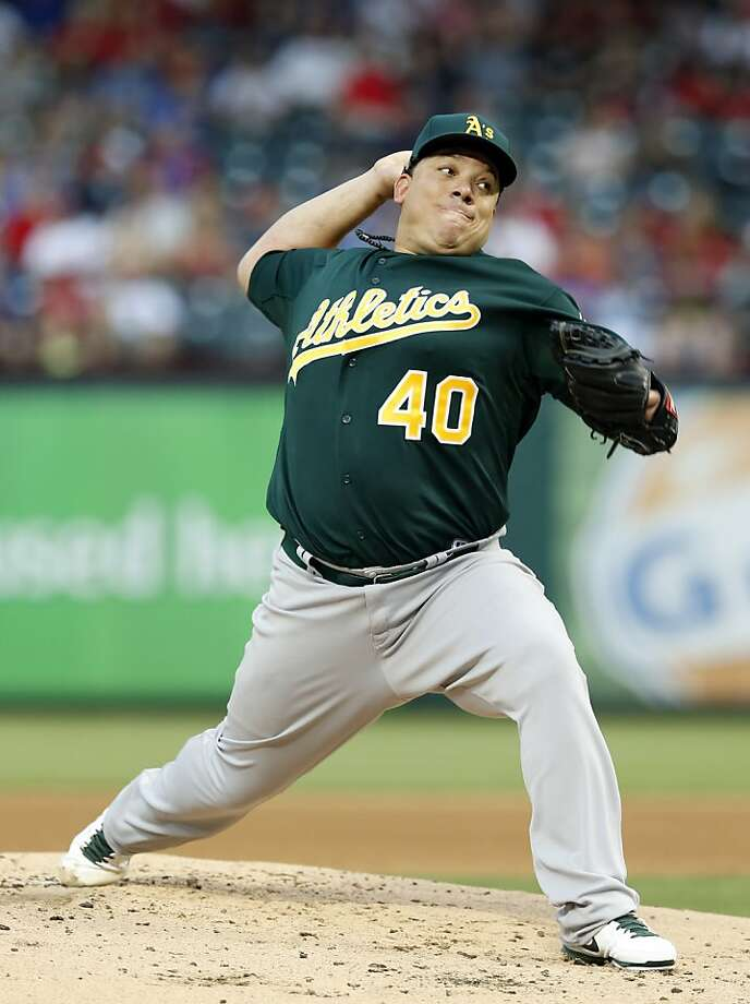 Bartolo Colon, who'll turn 40 on Friday, got his 19th career win against the Rangers. Photo: Jim Cowsert, Associated Press