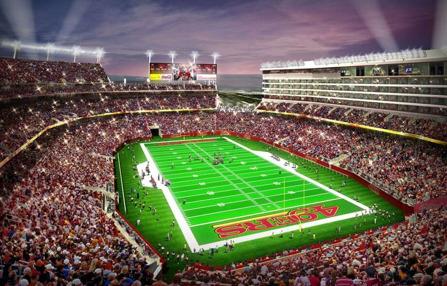 Stadium:Levi's Stadium. It'll be the NFL's newest stadium, and it'll be the first Green stadium. It's being built next door to the 49ers' practice facility. It costs so much because it's part of a commercial-residential project.Cost: $1.2 billionOpening: July, 2014Suites: 166