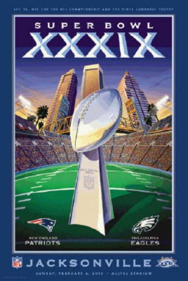 Super Bowl XXXIXDate:Feb. 6, 2005 Location: ALLTEL Stadium, Jacksonville, Fla. Result: New England 24, Philadelphia 21 Price: $600, $500 Photo: Photo By NFL