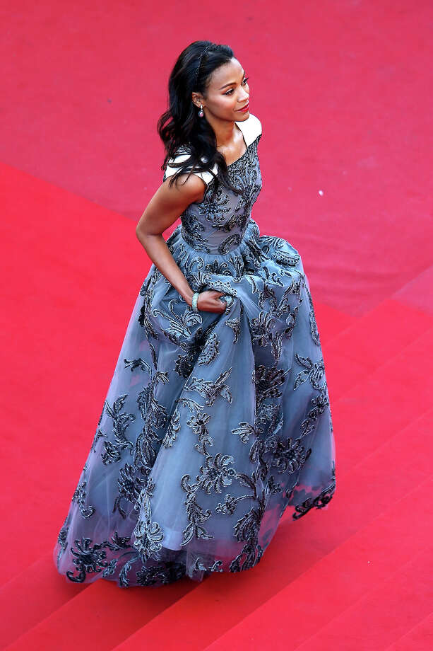 "Zoe Saldana attends the ""Blood Ties"" Premiere during the 66th Annual Cannes Film Festival at Grand Theatre Lumiere on May 20, 2013 in Cannes, France. Photo: Andreas Rentz, Getty Images / 2013 Getty Images"