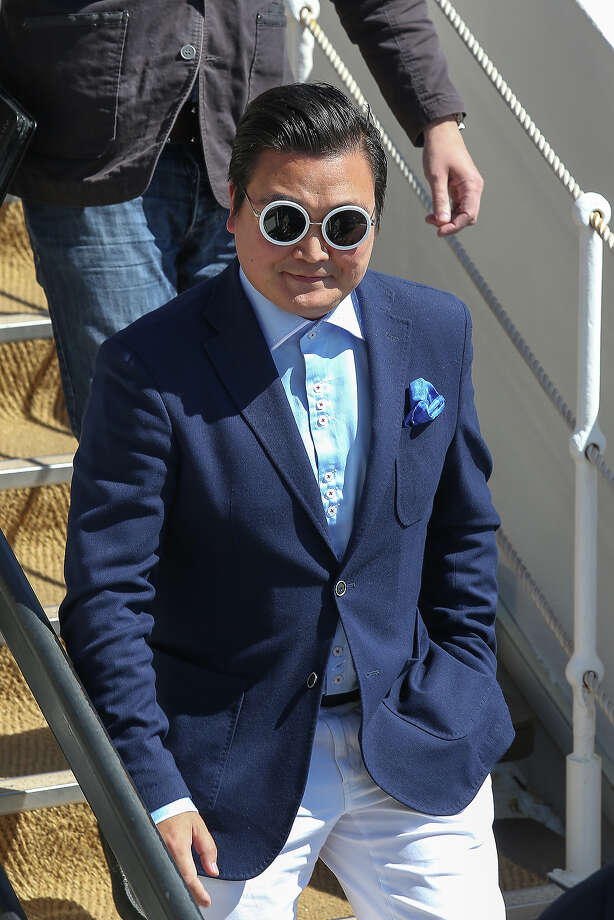 Singer PSY is seen arriving at the  'Martinez' beach during the 66th Annual Cannes Film Festival on May 20, 2013 in Cannes, France. Photo: Marc Piasecki, FilmMagic / 2013 Marc Piasecki