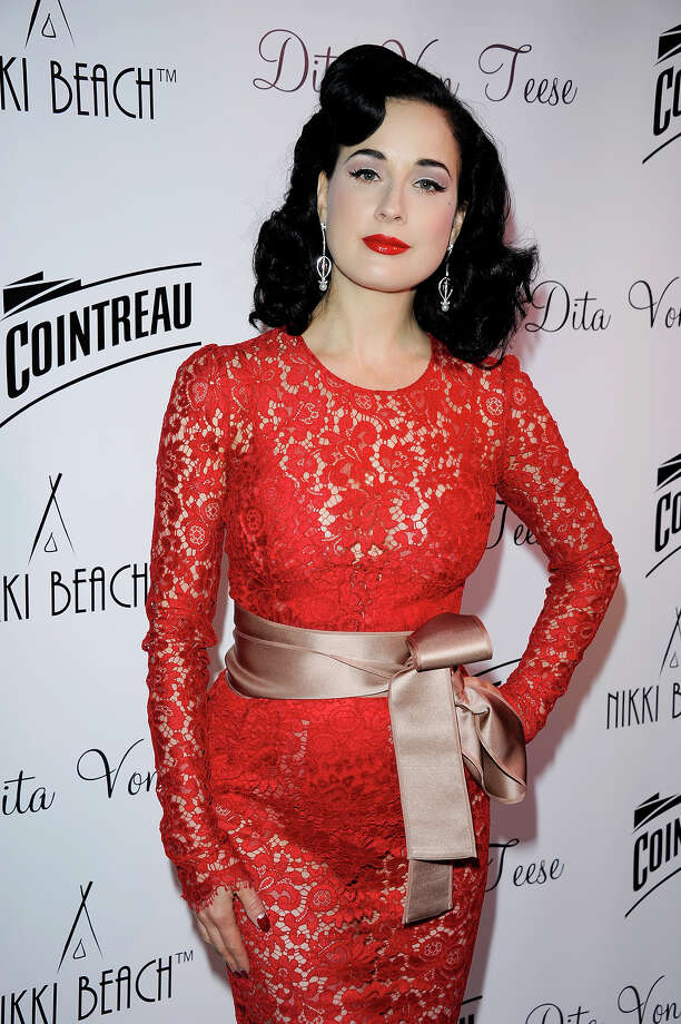 Cointreau & Nikki Beach present Dita Von Teese during the 66th Annual Cannes Film Festival at Boulevard de la Croisette on May 20, 2013 in Cannes, France. Photo: Luca Teuchmann, WireImage / 2013 Luca Teuchmann